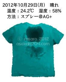 20121029@運動してTシャツの汗ジミを記録しよう法