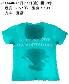 20140627@運動してTシャツの汗ジミを記録しよう法
