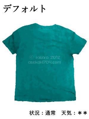 デフォルト@運動してTシャツの汗ジミを記録しよう法
