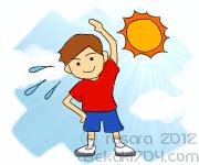 温熱性発汗