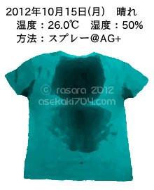 20121015@運動してTシャツの汗ジミを記録しよう法