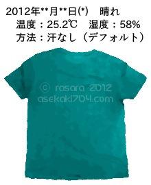 デフォルト2@運動してTシャツの汗ジミを記録しよう法