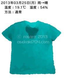 20130325@運動してTシャツの汗ジミを記録しよう法