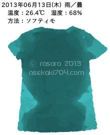 20130613@運動してTシャツの汗ジミを記録しよう法