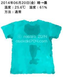 20140620@運動してTシャツの汗ジミを記録しよう法