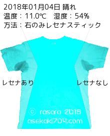 レセナドライシールドパウダースティックでの脇汗実験0104